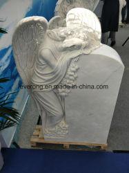 Marmo/memoriale/pietra tombale bianchi giardino/del cimitero con l'angelo stile europeo/americano/cinese/giapponese/russo