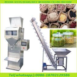 Ingrédients des aliments de collation semi-automatique les écrous de riz à grain de lentilles de fruits séchés pesant Machine de remplissage