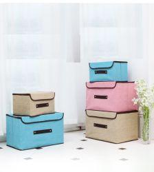Caixa de Armazenagem de papelão não tecidos com pega