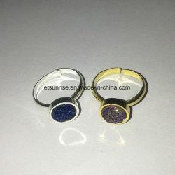 方法自然な水晶Durzyのめっきの瑪瑙のビードのリング