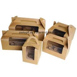 Träger-Mittagessen-Paket-Kasten-/Packpapier-Kuchen-Kasten mit Einlage
