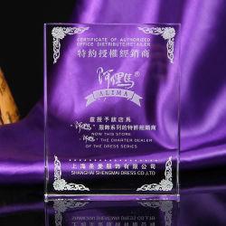 Formato de livro troféu de cristal de recreio para Dom