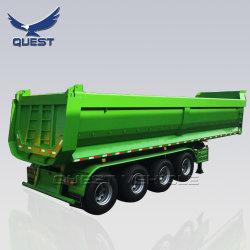 Agrégat 45CBM 80 tonnes 4 essieux U-Shape de remorques de camion à benne /semi-remorque de benne basculante