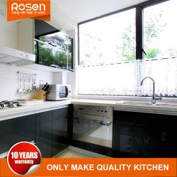 La pintura negra de estilo moderno a la venta de acero inoxidable gabinetes de cocina