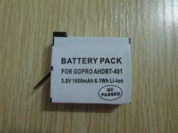 Batterie Li-ion de la caméra pour Gopro 401
