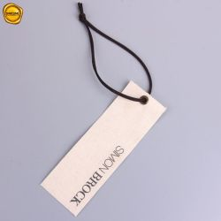 Tecido de cor de algodão Natural Sinicline Hang Tags para roupas