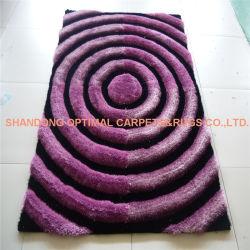 手のホームのための房状の近代美術ポリエステル絹のシャギーなカーペットそして敷物