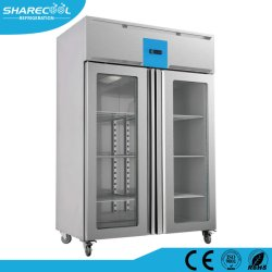 Edelstahl-Kühlraum-Gefriermaschine mit Glastür