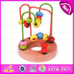 2015 Nova chegada cordões de cadeia criativa brinquedo, cordões de labirinto de madeira brinquedo bebê orgânicos, Jogo educativo de paletes com cordões de madeira brinquedo W11b063