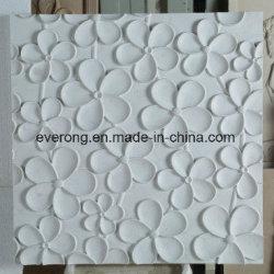 芸術の壁の装飾のための美しく簡単で白い大理石の花模様の3Dによって切り分けられるタイル