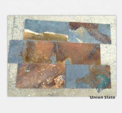 Telhas de pavimentação de ardósia enferrujados parede personalizado colorido jardim interior da superfície dividido a cultura cortada