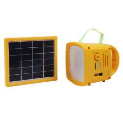 Radio FM linterna solar linterna con cargador de teléfono USB