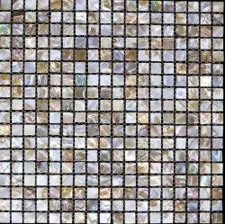 مربع قطع سميك شل Mosaic البلاط ، [إبوإكسي] [رسن] طلاء أبيض [مكّوبل] [شلّ] فسيفساء