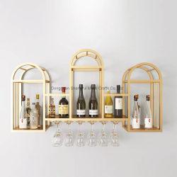 Cremagliera di memoria del vino del metallo del supporto di bottiglia del vino della decorazione della parete