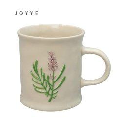 Personnalisés Handpaint Floral thé Café Tasse en céramique ronde en grès cérame