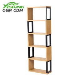 La moderna oficina en casa de madera estante de libros libreria de pantalla
