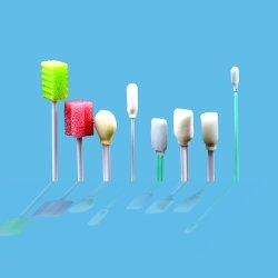 La FDA ISO13485 certificados CE Esponja desechable Stick hisopo torunda limpieza médicos hisopo de espuma PP Stick
