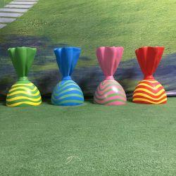 2021 年の祝祭の装飾生命サイズの大きい樹脂 Lollipop 光ガラスキャンデーの大物 Lollipop のキャンデーの土地の装飾のための提案