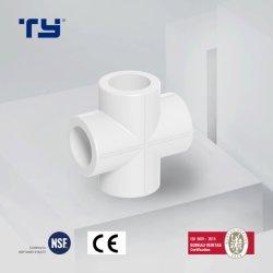 El mejor precio en Verde Blanco Azul PPR Cruz por la t de cuatro vías de canalización conjunta tubo PPR personalizado Igualdad de 4 vías de montaje del tubo PPR Conectar