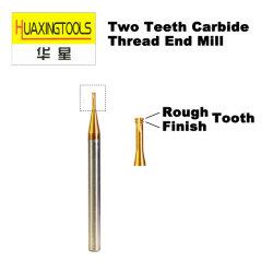 Карбида вольфрама со стороны резьбы мельница 2 два зуба неровной готово Threading мельница фрезы