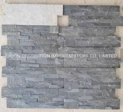 Черный цемент сад камня кромки наружного Дом Декор настенные панели люка камнеуловителя полосы культуры камня