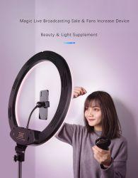 بنية يجعل مصباح [لد] فوق من حيّة [سلفي] إذاعة إستوديو فنّ تصوير فوتوغرافيّ مرآة حل ضوء