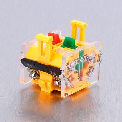 L165-B8 양호한 품질 전자식 빅에서 두 개의 녹색 접촉기 켜짐 플라스틱 푸시 버튼 스위치