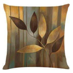 Nordic Tropical Plant Gold Black Green Foliage Palm Monstera Leaf Jogue almofada de linho pillow Case Casa Sofá cobertura decorativa