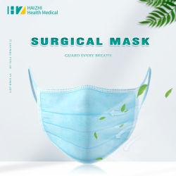 Het vlakke oor-Lijn Beschermende Medische Chirurgische Masker van het Gezicht 3 van de niet Geweven 3ply van het Type van Iir En14683 Lagen Bestand Vloeistof van de anti-Spat