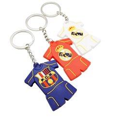 OEM personalizados PVC Borracha Football T-shirt brinquedo Keychains