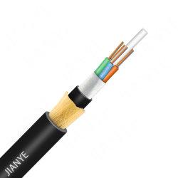 إمداد المصنع بالكبل المصنوع من الألياف الضوئية ADSS 24 core 12core 48 core 6 core كابل ADSS Singlemodo G652D بدون كابل معدني
