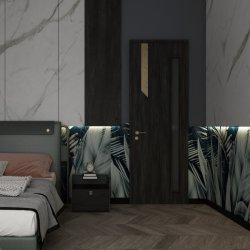 Holike PVC MDF moderno interior sólido Entrada Puerta de madera