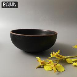 Japón tazón de sopa de miso sopa cuencos de porcelana negro