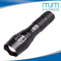 Torcia elettrica chiara telescopica ultra luminosa della lega di alluminio del fuoco T6 L2 della torcia elettrica ricaricabile del LED mini forte