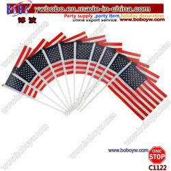 De MiniVlag van de Vlag van de Stok van de Vlag van het Signaal van de Hand van de vlag voor de Ventilators van de Club van de Partij (C1122)