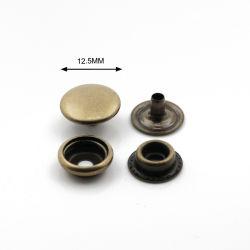 버튼 제조업체 12.5mm 앤티크 황동 금속 프레스 스냅 가죽 가방