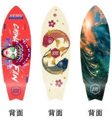 Hot-Selling Maple Travel Brush Street Steering Board vierwielend Land CX4 Surfen Skateboard Visbord