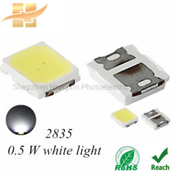 2835 chip competitivo chiaro bianco LED di SMD LED 0.5W 33-40lm 6500K SMD