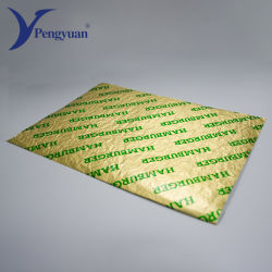 Lámina de prueba de aceite de la lámina de papel laminado Sandwich de papel Papel de envoltura