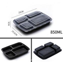 PP en plastique hermétique de grade alimentaire micro-ondes conteneur de stockage alimentaire avec couvercle