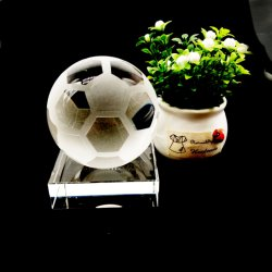 Verre en cristal mariage promotionnel Cadeau souvenir Sports Ball-Football