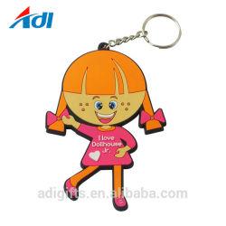 2D promotionnel Cartoon animal doux Figure PVC trousseau avec logo
