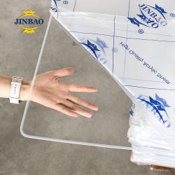 Os fabricantes Jinbao 2mm 3 mm a 4 mm 5 mm Perspex de PMMA cor transparente de acrílico claro Preço de vidro colorido fundido a folha de acrílico de plástico para venda
