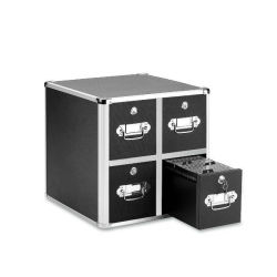 ألومنيوم [كد] تخزين حالة مع أربعة ساحبات ([هف-7004])