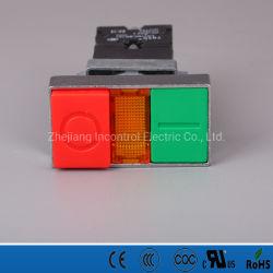 Bouton poussoir double interrupteur avec voyant à LED avec des certificats