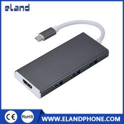 USB Cのハブ、マルチポートへのUSBのハブ、タイプCのハブ