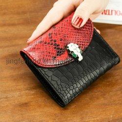Мода оптовой леди змеиной кожи бумажники фо держателя карты из натуральной кожи медали кошелек Wallet