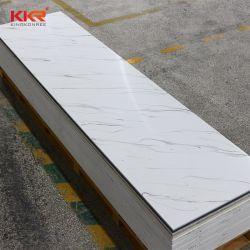Kkr 6mm Jaune veinage translucide Surface solide de dalles de marbre