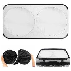 El nylon poliéster plata regalo de promoción de la sombrilla de coche