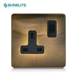 De aço inoxidável de alta qualidade 15A Tomada Round-Pin com marcação CE